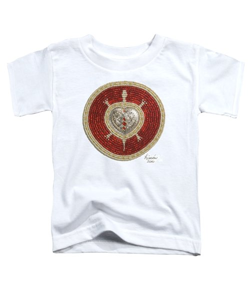 Silver And Gold Heart Turtle Toddler T-Shirt