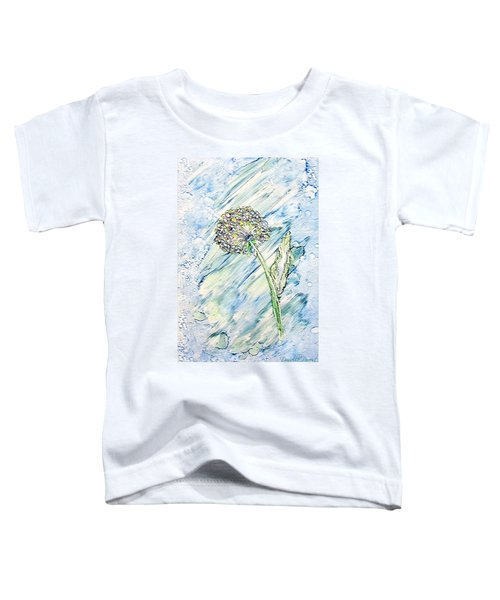 Rainbow And Blue Dandelion Alcohol Inks  Toddler T-Shirt