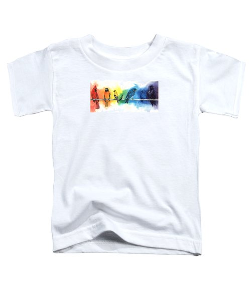 Rainbow Birds Toddler T-Shirt by Antony Galbraith