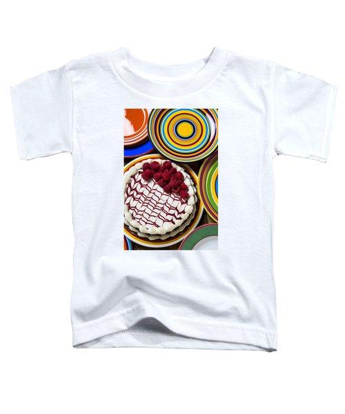 Raspberry Cake Toddler T-Shirt by Garry Gay
