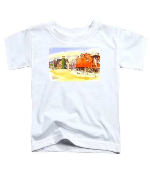 Red Caboose At Whistle Junction Ironton Missouri Toddler T-Shirt