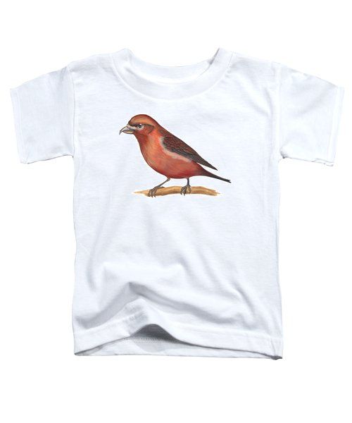 Red Crossbill Toddler T-Shirt by Anonymous