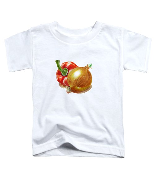 Red Pepper And Yellow Onion Toddler T-Shirt