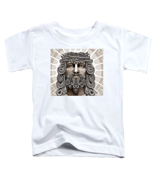 Redeemer - Modern Jesus Iconography - Copyrighted Toddler T-Shirt