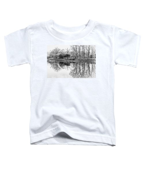 Reflection In Black And White Toddler T-Shirt