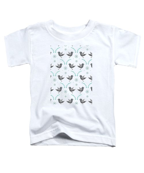 Repeat Lovebird Toddler T-Shirt by Susan Claire