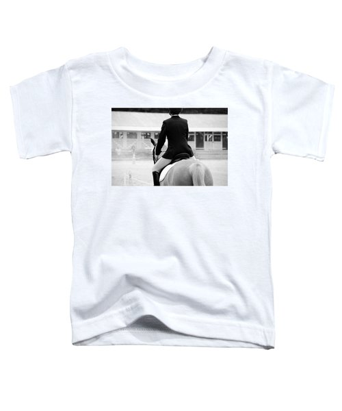Rider In Black And White Toddler T-Shirt