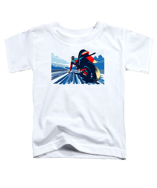 Riding On The Edge Toddler T-Shirt