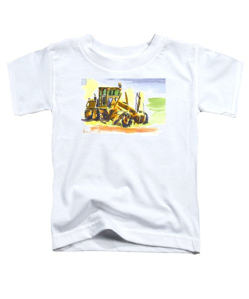 Roadmaster Tractor In Watercolor Toddler T-Shirt