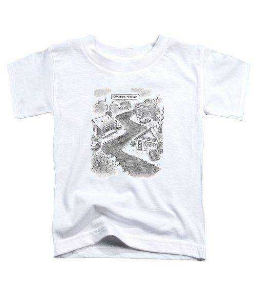 Roadside Ambush Toddler T-Shirt by Frank Cotham