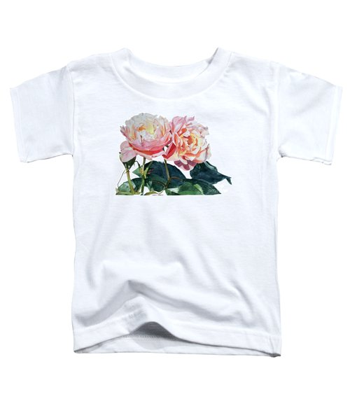 Pink And Yellow Rose Anne Toddler T-Shirt
