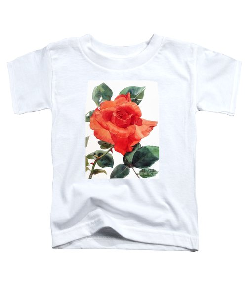 Watercolor Of A Single Red Rose I Call Red Rose Filip Toddler T-Shirt