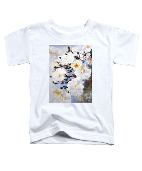 Wartercolor Of White Roses On A Branch I Call Rose Tchaikovsky Toddler T-Shirt