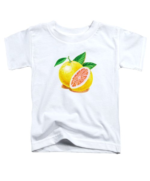 Ruby Red Grapefruit Toddler T-Shirt by Irina Sztukowski