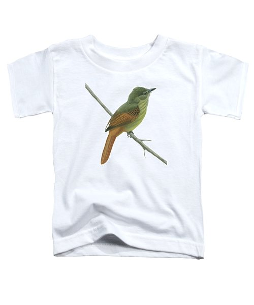 Rufous Tailed Flatbill  Toddler T-Shirt