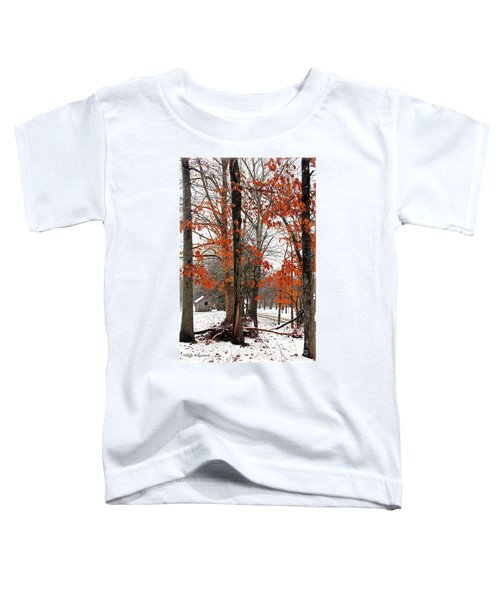 Rustic Winter Toddler T-Shirt