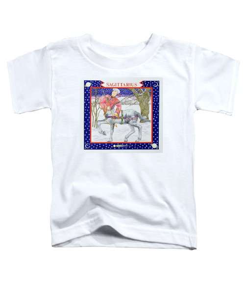 Sagittarius Wc On Paper Toddler T-Shirt by Catherine Bradbury