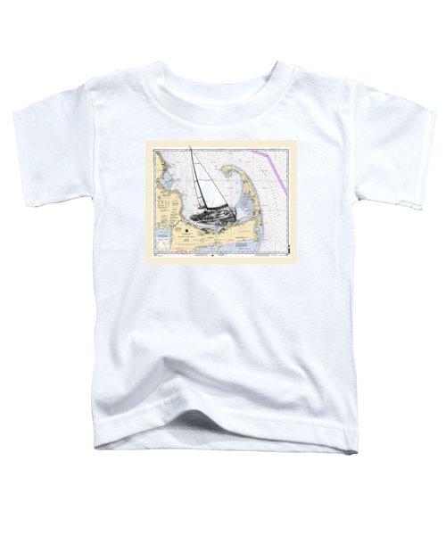 Sailing Cape Cod Bay Toddler T-Shirt