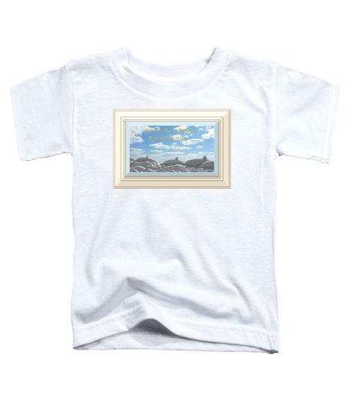 Sand Dolphins - Digitally Framed Toddler T-Shirt
