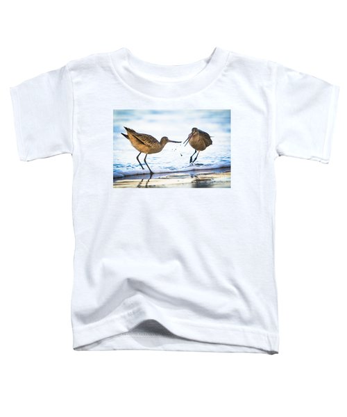 Sanderlings Playing At The Beach Toddler T-Shirt