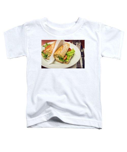 Sandwish On Table Toddler T-Shirt by Carlos Caetano