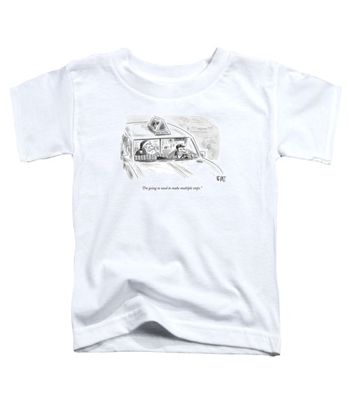 Santa In The Back Of A Cab Toddler T-Shirt