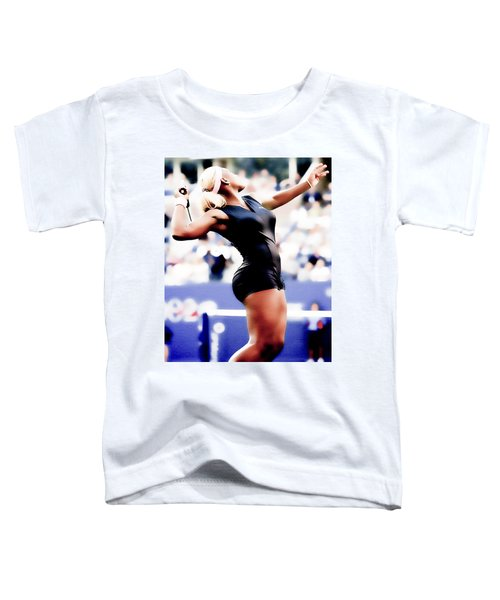 Serena Williams Catsuit Toddler T-Shirt by Brian Reaves