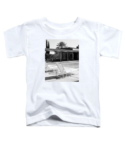 Sinatra Pool Bw Palm Springs Toddler T-Shirt by William Dey