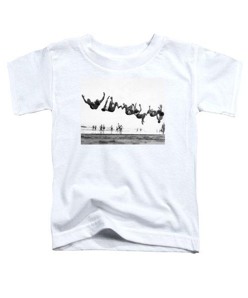 Six Men Doing Beach Flips Toddler T-Shirt