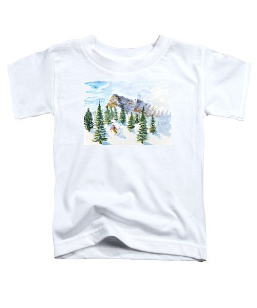 Skier In The Trees Toddler T-Shirt