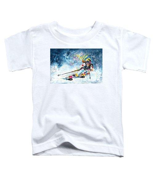 Skiing 03 Toddler T-Shirt