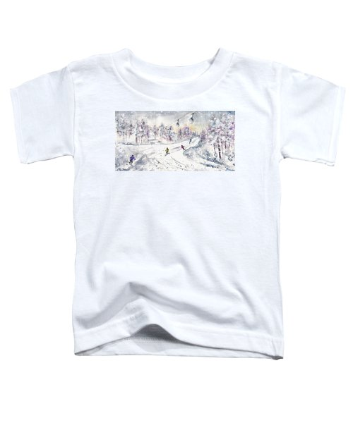 Skiing In The Dolomites In Italy 01 Toddler T-Shirt