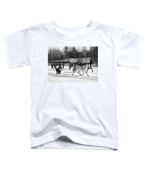 Skijoring At Lake Placid Toddler T-Shirt