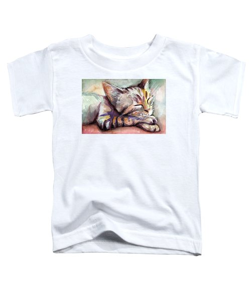 Sleeping Kitten Toddler T-Shirt