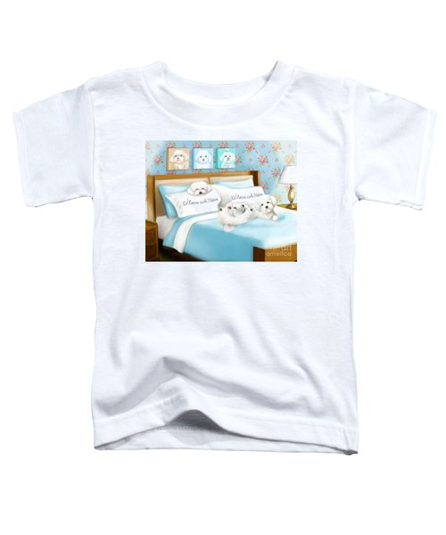 Sleeps With Maltese Toddler T-Shirt