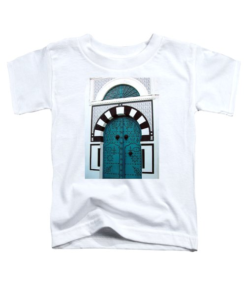Smiling Moon Door Toddler T-Shirt