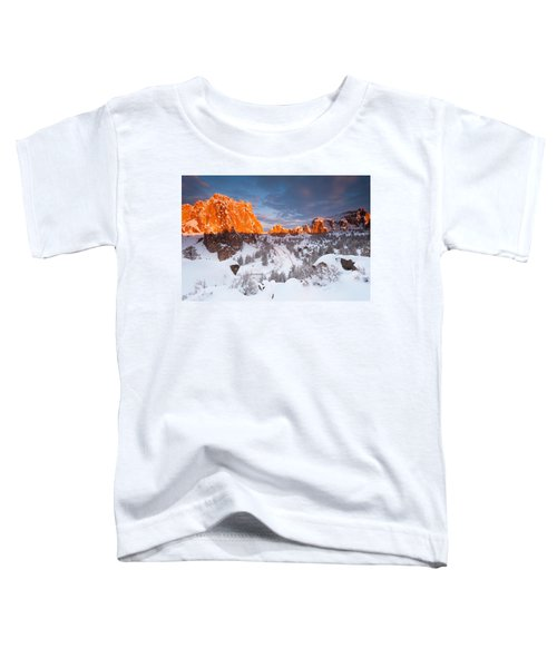 Smith Rock Snow Storm Toddler T-Shirt