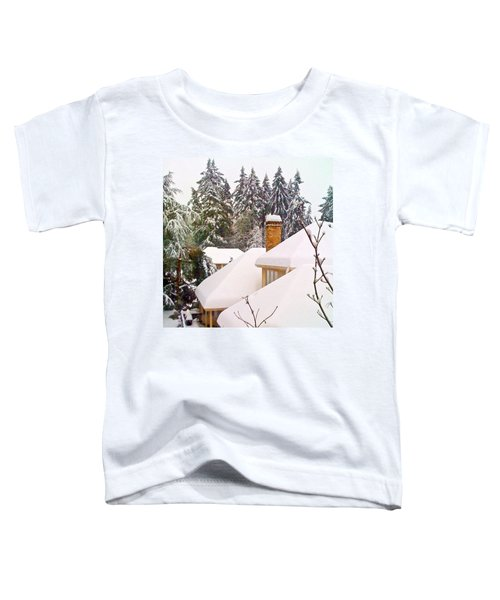 Snow Covered Rooftops - Winter In Lake Oswego Or Toddler T-Shirt