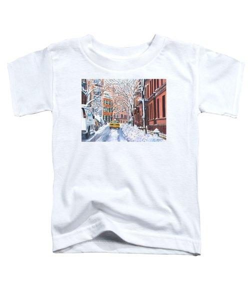 Snow West Village New York City Toddler T-Shirt