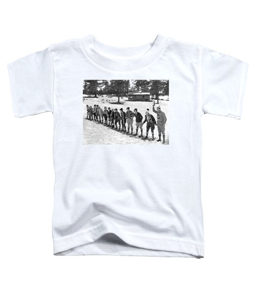 Snowshoe Race In The Mountains Toddler T-Shirt