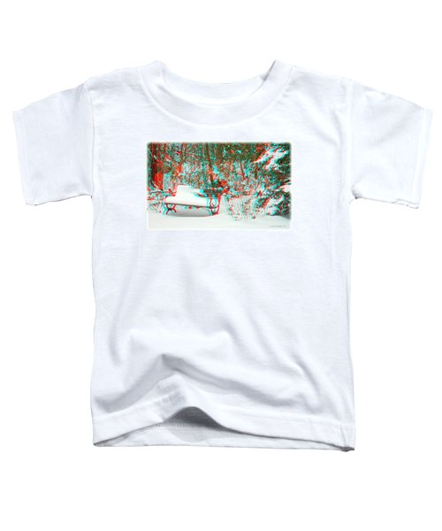 Snowy Bench - Use Red-cyan Filtered 3d Glasses Toddler T-Shirt