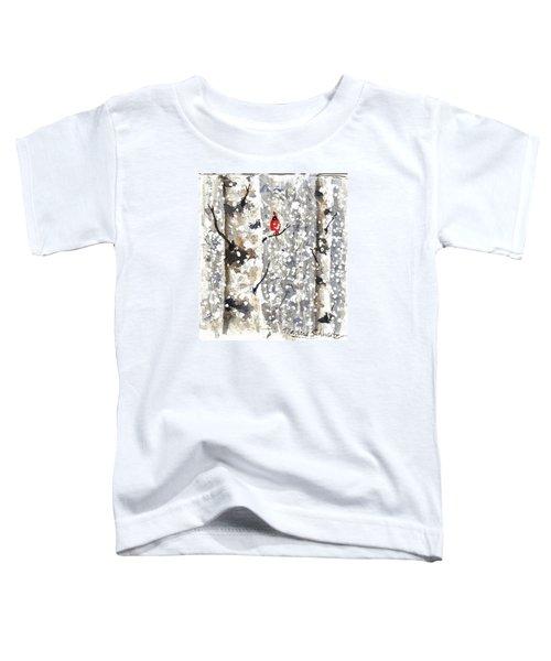 Snowy Hello Toddler T-Shirt