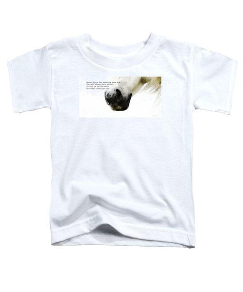 Soul Touch - Emotive Horse Art By Sharon Cummings Toddler T-Shirt