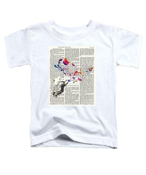 Spray Natura Graffiti Art Print Toddler T-Shirt