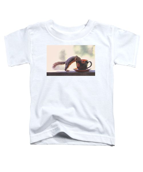 Squirrel And Coffee Toddler T-Shirt