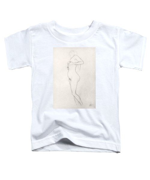 Standing Nude Girl Looking Up Toddler T-Shirt