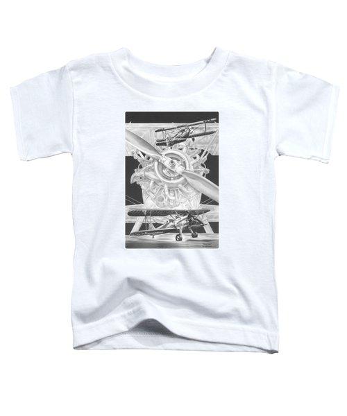 Stearman - Vintage Biplane Aviation Art Toddler T-Shirt