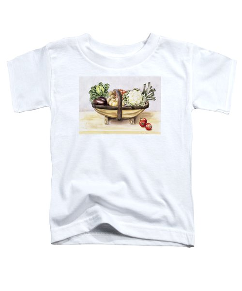 Still Life With A Trug Of Vegetables Toddler T-Shirt