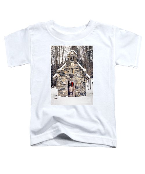 Stone Chapel In The Woods Trapp Family Lodge Stowe Vermont Toddler T-Shirt