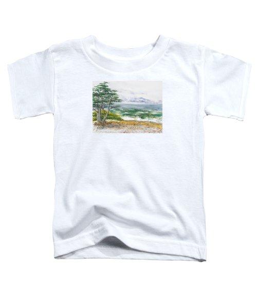 Stormy Morning At Carmel By The Sea California Toddler T-Shirt